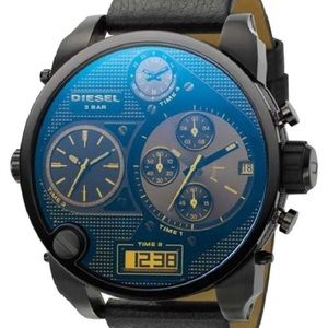 Diesel four time dial oversized men's watch.